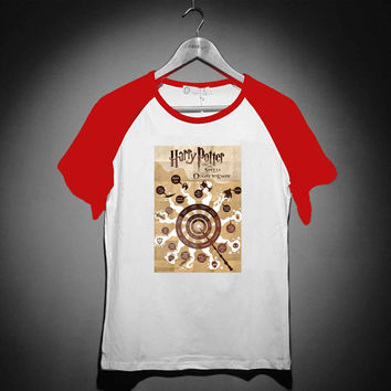 harry potter and the spells - Short Sleeve Raglan - White Red - White Blue - White Black XS, S, M, L, XL, AND 2XL *02*