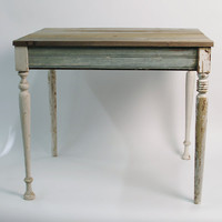 Reclaimed Wood Cottage Table - New Orleans Salvage Wood by RestorationHarbor