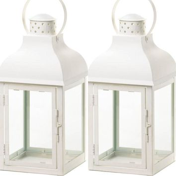 2 Terrace Large White Lanterns