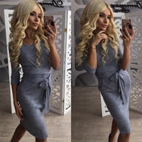 Autumn Winter Sexy Dress Bandage Office Dress Vestidos Fall Plus Size Women Long Sleeve Party Dresses Vestido De Festa GV381