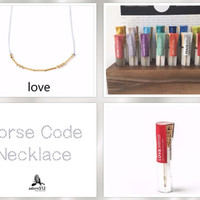 Morse Code Love Necklace, Love Code, Morse Code Love, Morse Code Necklace Love, Love Morse Code Necklace, Code Love, Love Morse Code