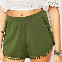 ASOS Jersey Shorts with Pom Pom Hem