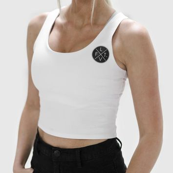 Live Fit. Apparel — Prestige Crop Tank- White