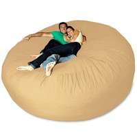 Pebble Giant Bean Bag Chair at Brookstone—Buy Now!