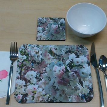 WHITE PLACEMAT or MOUSEPAD For Cubicle or Office by PonsArt $20.00
