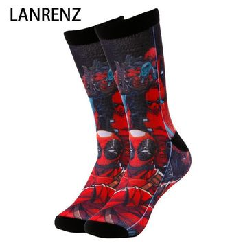 Deadpool Dead pool Taco 2018 villain hero  Corps  Men and women fashion Funny socks 3d printed socks 200 knitting oil painting compression socks AT_70_6