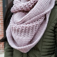 French Countryside Scarf - Light Lilac