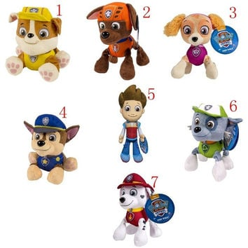 Puppy Paw Patrol Dogs Stuffed Plush Animal Toys Best Gifts for Kids Children, RYDER, SKYE, ZUMA, RUBBLE, ROCKY, MARSHALL, CHASE = 1946540228