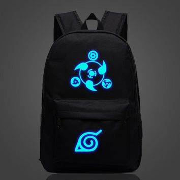 Naruto Sasauke ninja Teens Kids Anime  Sharingan Luminous Backpack School Backpack Women Men Laptop Backpack Boys Girls Anime  School Bag AT_81_8