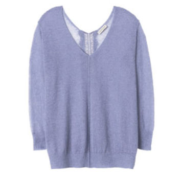 Rebecca Taylor Fuzzy Sheer Pullover with Lace