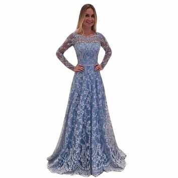 2018 Fashion Long Womens Maternity Lace Evening Photography Dress Party Ball Gown Prom See-through Dress