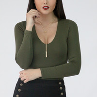 Flames to Dust Body Suit - Olive
