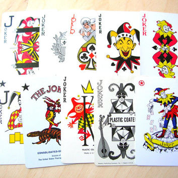 10 Jokers - Clowns - Playing Cards - Lot of Jokers - Joker Collection - Swap Cards - Trade Cards