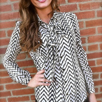 Chevron Bow Blouse | The Rage