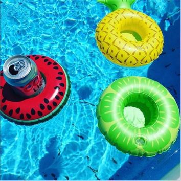 3pcs Mini Swim Ring Pineapple Inflatable Drink Holders Floating Toy Bath Pool Party  Bachelorette Supplies Party Favors  Gifts B