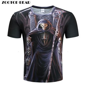 Skull Printed T-shirts Men 3d T shirt Funny Shirt Fashion Quality Male Top Harajuku Tee Trendy Character personality Camiseta