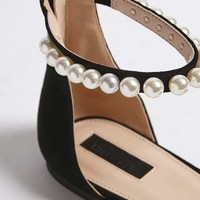 Embellished Faux Suede Flats