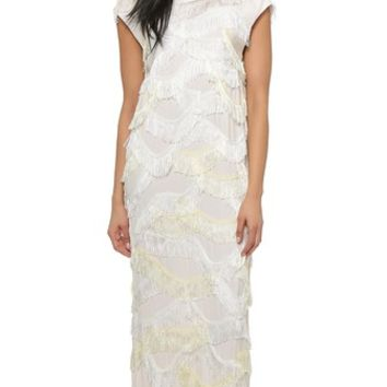 By Malene Birger Pelagie Fringe Maxi Dress