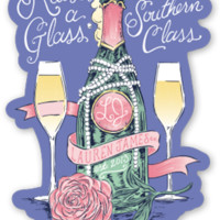 Lauren James Raise A Glass Sticker