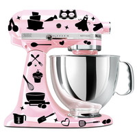 Baking mixer decal set - kitchen mixer decal - utensil decal - cupcake decal
