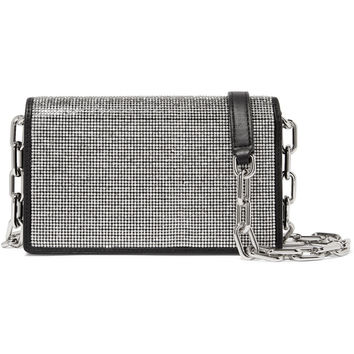 Alexander Wang - Attica crystal-embellished leather shoulder bag
