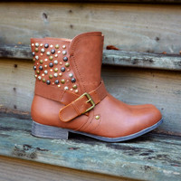 SZ 7.5 Durango Brown Studded Booties