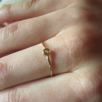 Sapphire gold ring, solid 14k ring with gemstone, tiny gold ring, stackable ring,  alternative engagement ,handmade
