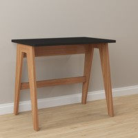Black Wood and Laminate Home Office Desk