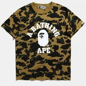 Plus Size Camouflage Men's Fashion Short Sleeve T-shirts Summer Men Bottoming Shirt [420155162660]