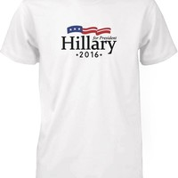Hillary Clinton for President 2016 Campaign Men's T-shirt White Crewneck Tee