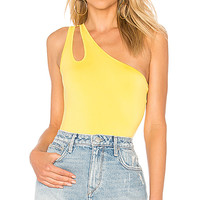 Lovers + Friends Baro Bodysuit in Yellow