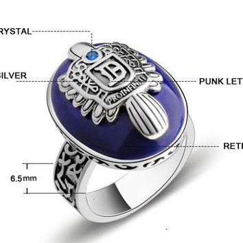 Jewelry Vintage The Vampire Diaries Ring Salvatore Damon Stefan's Punk Rings For Men Lapis Lazuli Moives Jewelry Us