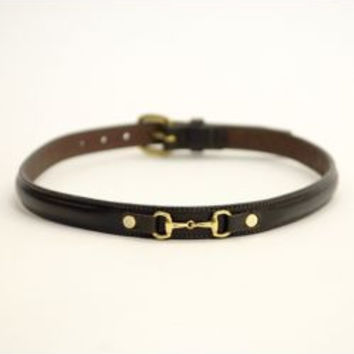 Tory Leather 3/4IN Keepsake Belt With Snaffle