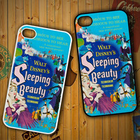 Vintage Disney Poster Sleeping Beauty X0901 LG G2 G3, Nexus 4 5, Xperia Z2, iPhone 4S 5S 5C 6 6 Plus, iPod 4 5 Case
