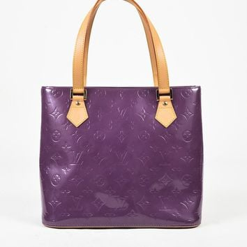 "VINTAGE Louis Vuitton Purple Vernis Monogram Patent ""Houston"" Tote Bag"