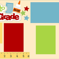 NEW!! Second Grade 2-page 12 X 12 Premade Scrapbook Layout