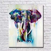 Hand Painted Oil Painting On Canvas Abstract Elephant Paintings Modern Decoration Wall Art Living Room Decor Picture no Framed