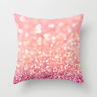 Blush Deeply Throw Pillow by Lisa Argyropoulos