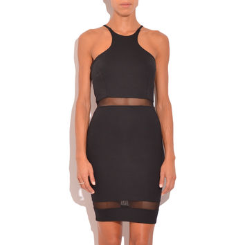 DONNA MIZANI racer front mini dress