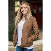 Up North Brown Quilted Jacket
