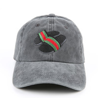 The Gucci Slides Dad Hat in Black Mineral