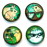 Working Animals Magnet Set