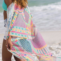 Play All Day Multi Colored Kimono