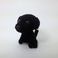Labrador Retriever Amigurumi Dog Crochet Dog Stuffed Animal Black Lab Retriever / Made to Order