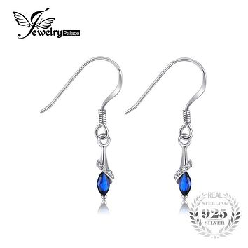 JewelryPalace Exquisite 0.36ct Marquise Created Blue Spinel Drop Earrings 925 Sterling Silver Charms Women Fashion Fine Jewelry