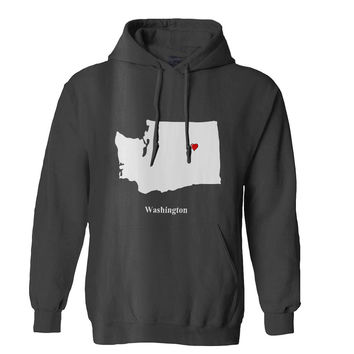 Washington Love Map hoodie for Mens Hoodie and Womens Hoodie ***