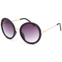 Full Tilt Sydney Round Sunglasses Black One Size For Women 26027710001