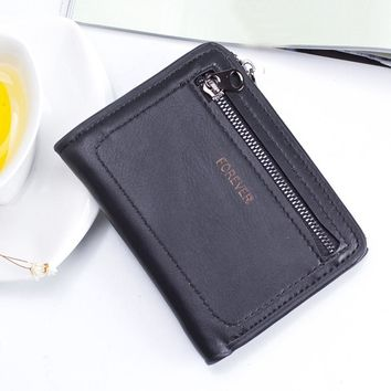 Simple Women Wallets Money Holder Case Solid Color Leather Double Zippers Bag Women Leather Coin Purse With Key Ring Ulrica