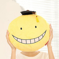 "15"" Koro Sensei of Assassination Classroom, Happy and Embarrassed Plush Pillow"