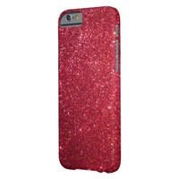 dark red faux glitter barely there iPhone 6 case
